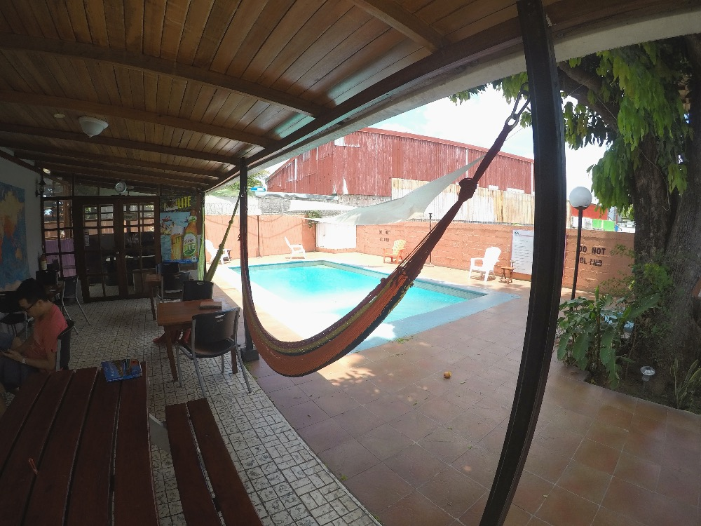 Managua Backpackers pool