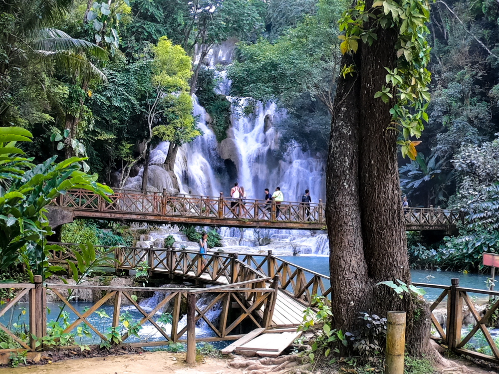 Kuang Si Falls is a hot Rivendell